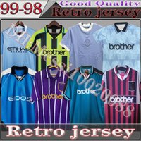 Top Thailand 89 91 92 94 96 Retro Mann Fussball Jerseys 98 99 City 2011/12 Wembley Clough Home Tevez Kun Agüero Dzeko Kompany Vintage Manchester Shirts Klassiker
