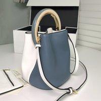 Factory Direct Sale 75% korting op Nieuwe Koreaanse Simple Ring Emmer Lederen Contrast Dames One Shoulder Messenger Bag