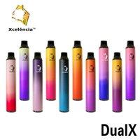 100% original Xcelencia Dual X Switch Device jetable Kit 1400 Puffs 900mAh Batterie Prérouvé 3 + 3ml Pod Vape Pen Véritable VS Bar 2in1 Plus authentique