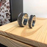 Best verkopende hoogwaardige sterling zilveren ring speciale letter persoonlijkheid ring retro hip hop paar ring mode-sieraden supply