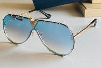 STONES SUNGLÈTES PILOTES POUR HOMMES GOLD Cadre Bleu Miroir Lunettes Sunnies Fashion Sunglasses Lunettes Accessoires UV400 avec boîte