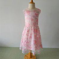 Rosa flor menina vestidos princesa festa concurso primeiro comunhão vestido 2020 nova chegada adorável meninas meninas crianças / crianças vestido