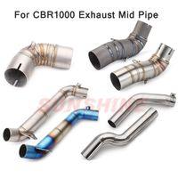 Sistema de escape de la motocicleta para CBR 1000 Slip on Pitbike Pipe Medio Conecte el tubo de enlace de acero inoxidable CBR1000RR 2004 2005-2007 2008-2012