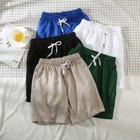 Men's Shorts Solid Summer Fashion Casual Sports Street Wear Pants Drawstring Breath Board Male