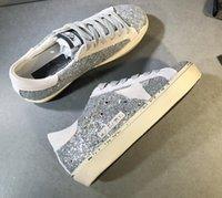 Zapatos sucios viejos de la estrella italiana, súper brillante #star # casual para hombres y mujeres zapatillas G33ms590 zapatillas # -45 más caja original