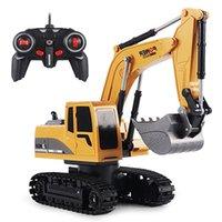 2.4GHz 1:24 RC Bagger Spielzeug 6 Kanal RC Engineering Auto Legierung und Kunststoffbagger 6CH und 5CH RTR für Kinder Weihnachtsgeschenk 210729