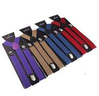 Y-Back Adult Regolabile Russore Soild Color Color Donne Clip-on Breviglie Elastico Moda Uomini Bambini cinture per bambini Cinghie OWC6202