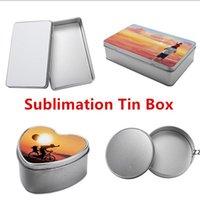 Subblimação em branco Caixa de parede lunch caixas de almoço armazenamento de maquiagem lata de festa de natal 3 estilos hwb10122