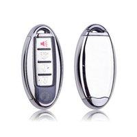 TPU + PC Araba Uzaktan Anahtar Kapak Durumda Anahtarlık Için Nissan Için Infiniti Q50 FX35 FX FX37 G37 G35 Araba Anahtarı Kabuk Çanta Anahtarlık Anahtarlık