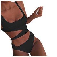 Women's Swimwear 2021 Printed Sports Tube Top Push-up Bikini Summer Fashion Swimsuit One Piece Sexy Beach Suit Ropa