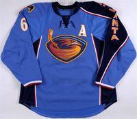 남성용 빈티지 애틀랜타 Thrashers 유니폼 게임 착용 jersey17 ilya kovalchuk 36 에릭 boulton 6 ron hainsey 7 마크 popovic jersey 블루 하키