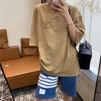 croix 21ss Sanskrit Crosin Summer Metal A KRO Secteur Heavy Stamping Hot Stamping Impression à manches courtes Mode Marque Casual Couple T-shirt A