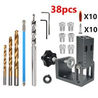 Professional Hand Tool Sets 15-Degree Angle Drill Guide Hole Locator Oblique Pocket Dowelling Jig Vertical Doweling Self Centering Kit