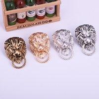 Retro animal leão cabeça broche moda homens terno camisa gola pin agulha badge lapela pinos e brocas acessórios de jóias 4939 Q2