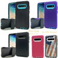 Defender 3in1 Armor Heavy Duty Hybrid Robot Crashproof Cases Shockproof Waterproof With Belt Clip Holster For Samsung Galaxy S20 Ultra S10 S8 S9 Plus Note 20 10 9 8