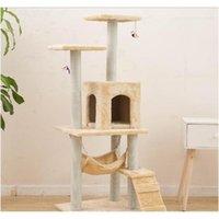Новый Cat Tree Tower Condo Мебель Scratch Post Cat Pet House Play Восхождение Рамки царапания Jllitz Warmslove