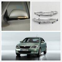 LED Ayna Işık Skoda Octavia A5 A6 2009 2010 2011 2012 2013 Araba-Stying Arka Ayna LED Dönüş Sinyal Göstergesi Işık Lambası