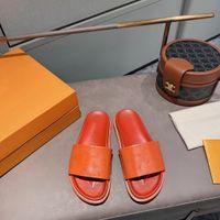 Chaussures de concepteur Flip-flops en cuir embossé Soft Candy Color Série Taille 35-41