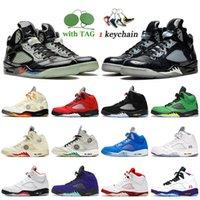 Nike Air Jordan Retro 5 5s off white Jumpman 5 2020 Fire Red Bel Airs Black Muslin TOP 3 Zapatillas de baloncesto para hombre Alternate Grape Michigan Womens Sneakers