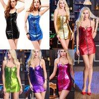Lingerie Sexy Dress Hot Erotic Costumes PU Leather Zipper Sex Women Baby Dolls Mujer Underwear