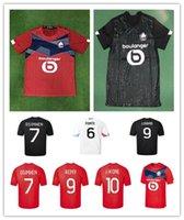 Top Mens Losc Lille 2020 2021 Soccer Jerseys David Fonte Bamba Yazzici Camicia da calcio 20 21 Lille Olympique Jikone 10 Maillot Camiseta de Fu