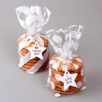 Gift Wrap 100PCS Cute Treat Bag Cookie Candy Bags For Biscuits Snack Baking Package Event Party Supplies