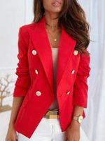 Women's Suits & Blazers Plus Size Blazer Women Coat Short White Female 2021 Autumn Office Black Ladies Long Sleeve Red Woman Elegant Coats