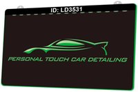 LD3531 Personal Touch Car Detailing Light Sign 3D Engraving