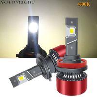 2x Mini 4300K H7 H4 H11 H1 H3 LED Scheinwerfer Birne H8 9005 HB3 9006 HB4 55W 6000K HIR2 9004 9007 H13 Autorampe 16000LM 12V