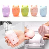Sponges, Applicators & Cotton 1pc Sponge Box Holder Powder Puff Portable Soft Silicone Cosmetic Makeup Cleaning Drying Case Beauty Tool