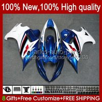 Körper für Suzuki Katana Blau Glossy GSXF650 GSXF-650 GSX650F 2009 2009 2010 2011 2012 2013 2014 körperarbeit 18hc.75 GSX-650F GSX 650F GSXF 650 08 09 10 11 12 13 14 Verkleidungsset