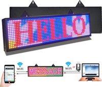 PH10mm LED 기호 26x8 인치 LED 스크롤 메시지 표시 RGB 풀 컬러 디지털 메시지 디스플레이 보드 WIFI USB에 의해 프로그래밍 가능