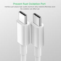 USB C to USB Type C Cable for Xiaomi Redmi Note 8 Pro Quick Charge 4.0 PD 60W Fast Charging for MacBook Pro S11 Charger Cable