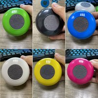 Shower Radio Bluetooth Speaker Toilet Supplies Waterproof Handsfree Portable Player with Control Buttons and Dedicated Suction Cup