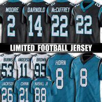 Panther 22 Christian McCaffrey Jersey 2 DJ Moore 8 Jaycee Horn Carolinas Fútbol Jerseys 21 Jeremy Chinn Sam Darnold Brian Burns Terrace Marshall JR Derrick Brown