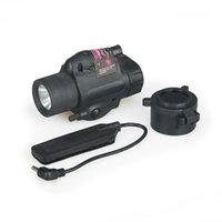 뜨거운 판매 사냥 M6 손전등 헬멧 헤드 사냥 CL15-0007R에 빨간색 레이저 시력을 가진 야외 빛