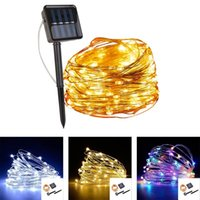 Strings Dimmable 5m 10m 20m 30m LED Outdoor Solar String Lights For Fairy Holiday Christmas Party Garland Lighting Mother's Day