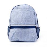 학교 가방 RTS 드롭 1 PC 샘플 Seersucker Backpack 유아 아늑한 해군 코튼 초등록 가방 패딩 스트랩