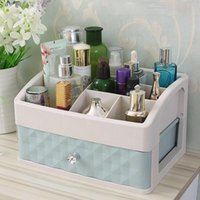 Storage Boxes & Bins Eyeshadow Drawer Desktop Makeup Organizer Stand Luxury Lipstick Plastic Box Brush Holder Rangement Skincare