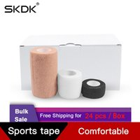 Dirsek Diz Pedleri SKDK 24 ADET Dokuma Olmayan Bandaj Rulolar Atletik Bant Kendinden Yapışkan Yapışkan Wrap Bandaj Paket Paketi Bilek El Premium-GR