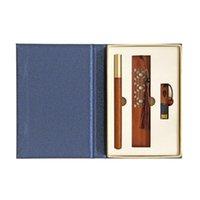Dolma Kalemler A5KA Premium Abanoz İmza Kalem Kaligrafi Kiti w / Import 32g U Disk Ahşap Hediye Kutusu İş için
