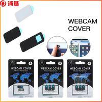 5 PCS Cámara Web cubierta del obturador Slider Slider Plastic para iPhone Laptop Webcam Cover PC Tablet Smartphone Pegatina de privacidad universal