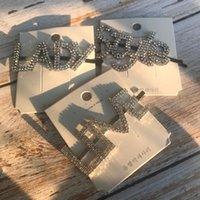 Haarklammern Barrettes 2021 Design Mode Strass Buchstaben Haarnadeln für Frauen Mädchen Schmuck Barrette Stil Headwear Zubehör