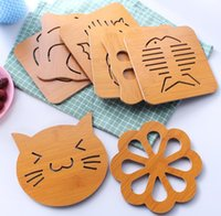9 Styles Bamboo Wood Heat Resistant Tableware Mat Pot Holder Teapot Flatware Pad Coaster Table Placemat Coffee Tea Cup Mats SN2998