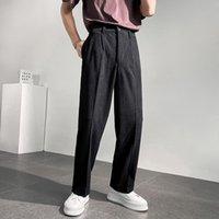 Men's Suits & Blazers Male Korean Chic Streetwear Fashion Vintage Pants Corduroy Men Loose Casual Straight Wide Leg Suit Pant Long Trousers