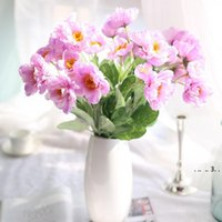 10 unids artificial amapola seda flor tela bouquet guirnalda pelo casero decoración regalo naranja oscuro rojo EWD5379