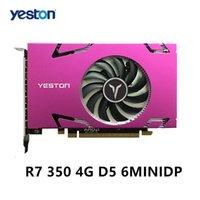 Schede grafiche YESTON CARD R7 350 4G D5 6MINIDP Supporto schermo a 6 schermo Display a split 700 / 4500MHz 4G / 128 bit / GDDR5 con 6 porte mini DP