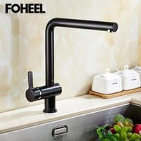 Faucets da cozinha Fooel pia torneira único punho frio e água misturador para casa moderno design elegante de alta qualidade