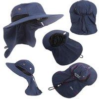 Stingy brim sombreros de verano función de verano aleta boonie sombrero de pesca senderismo safari al aire libre sol cubeta casquillo casual estilo casual