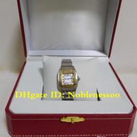 원래 상자 숙 녀 18K 골드 스틸 여성 로마 숫자 쿼츠 무브먼트 팔찌 시계 W20012C4 여성 숙녀 숙녀 여성 시계